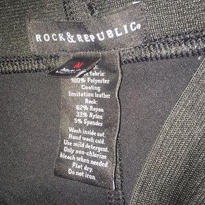 95a8c74c6793b Rock & Republic Pants - Women's Rock & Republic Faux Leather Leggings/Sz M